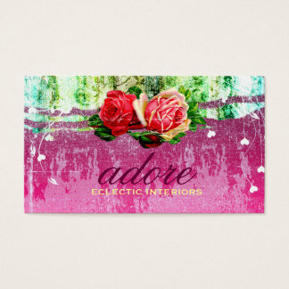 GC | Adore in Roses | Vintage Business Card
