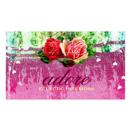 GC | Adore in Roses | Vintage Business Cards