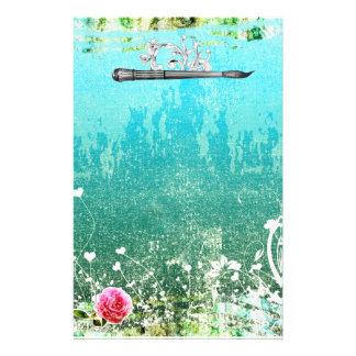 GC Adore Vintage Blue Customized Stationery