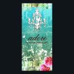 "GC Adore Vintage Blue Rack Card<br><div class=""desc"">Design by Jill McAmis &#169; 2012.</div>"