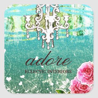 GC Adore Vintage Blue Square Sticker