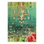 GC Adore Vintage Crystals Turquoise Metallic Large Business Card