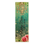 GC Adore Vintage Crystals Turquoise Metallic Mini Business Card