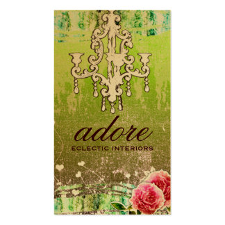 GC Adore Vintage Lime Gold Metallic Double-Sided Standard Business Cards (Pack Of 100)