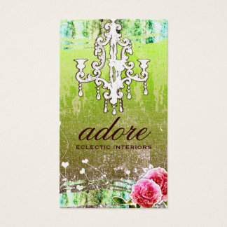 GC Adore Vintage Lime Gold Metallic Business Card
