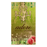 GC Adore Vintage Lime Gold Metallic Business Card Template