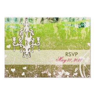 GC Adore Vintage Lime RSVP fits Square Invitation