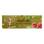 GC Adore Vintage Lime Tag Gold Metallic Business Card Templates