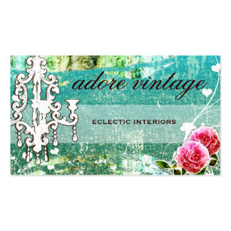 GC Adore Vintage Turquoise Basic Double-Sided Standard Business Cards (Pack Of 100)