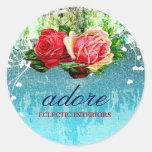 GC  Adore Vintage Turquoise Classic Round Sticker