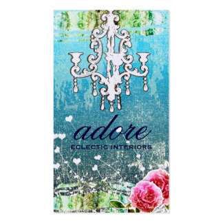 GC | Adore | Vintage Turquoise Gold Metallic Double-Sided Standard Business Cards (Pack Of 100)