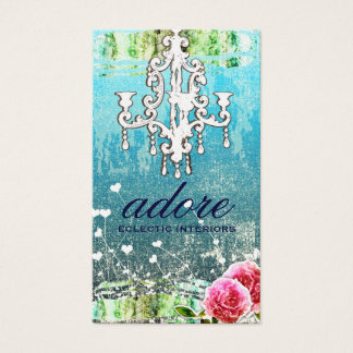 GC | Adore | Vintage Turquoise Gold Metallic Business Card