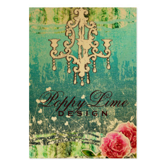 GC Adore Vintage Turquoise Gold Metallic Large Business Cards (Pack Of 100)