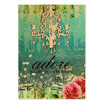 GC | Adore | Vintage Turquoise Gold Metallic Business Cards