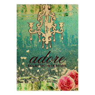 GC   Adore   Vintage Turquoise Gold Metallic Large Business Card
