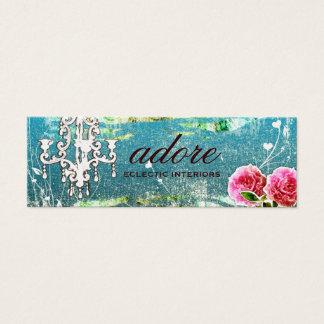 GC | Adore | Vintage Turquoise Gold Metallic Mini Business Card
