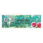 GC | Adore | Vintage Turquoise Mini Business Card