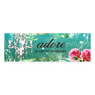 GC   Adore   Vintage Turquoise Mini Business Card