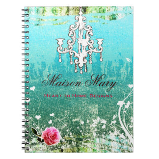 GC Adore Vintage Turquoise Spiral Note Book