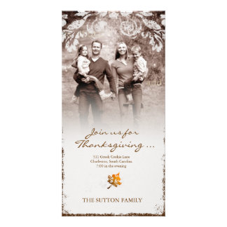 GC | Aged Thanksgiving Invitation Photo Card