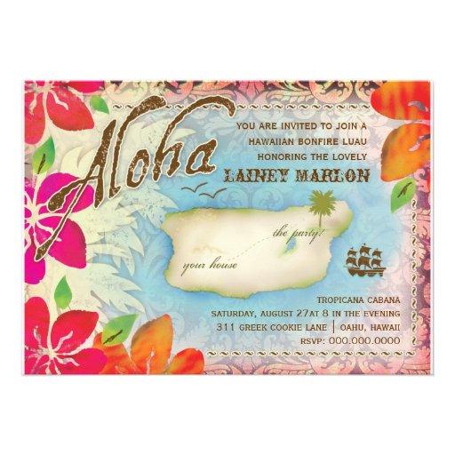 GC Aloha Luau Island 2 Invitations