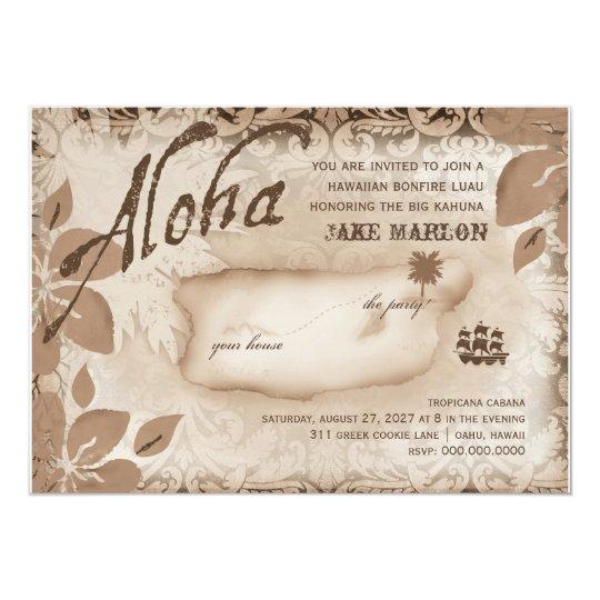 Gc   Aloha Luau Island Brown Card