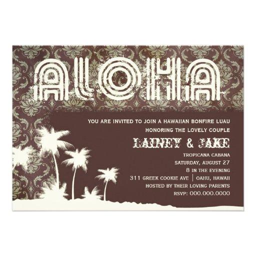 GC Aloha Luau Palm Pier Personalized Invitation