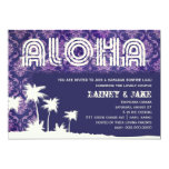 "GC Aloha Luau Palm Purple 5"" X 7"" Invitation Card"
