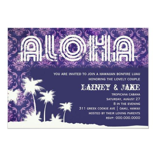 GC Aloha Luau Palm Purple Card