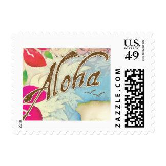GC Aloha Luau Postage Stamp