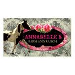 "GC | ""AnnaBelles"" Horse Ranch Black | Vintage Grey Business Card Templates"