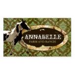 "GC | ""AnnaBelles"" Horse Ranch | Green & Yellow Business Card Template"