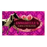 "GC | ""AnnaBelles"" Horse Ranch | Pink N Purple Business Card"