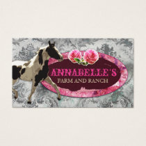 "GC ""AnnaBelles"" Horse Ranch Vintage Grey Business Card"