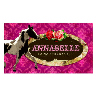 GC AnnaBelles Horse Ranch Yellow Plate Business Card Template