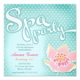 GC Aqua Spa Party Lotus Card