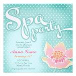 GC Aqua Spa Party Lotus Custom Invitation