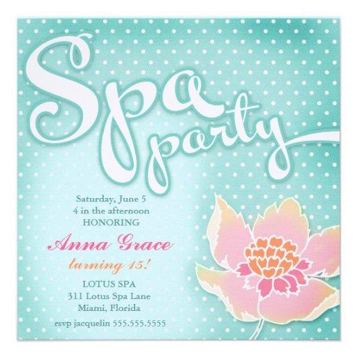 Spa Invitation Ideas was good invitations design