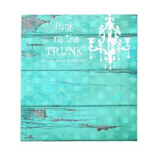GC Aqua Vintage Wood Chandelier Notepad