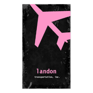 GC | AVIATION TAKE OFF PINK! Double-Sided STANDARD BUSINESS CARDS (Pack OF 100)