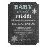 GC Baby It's Cold Outside Winter Birthday Boy 5x7 Paper Invitation Card