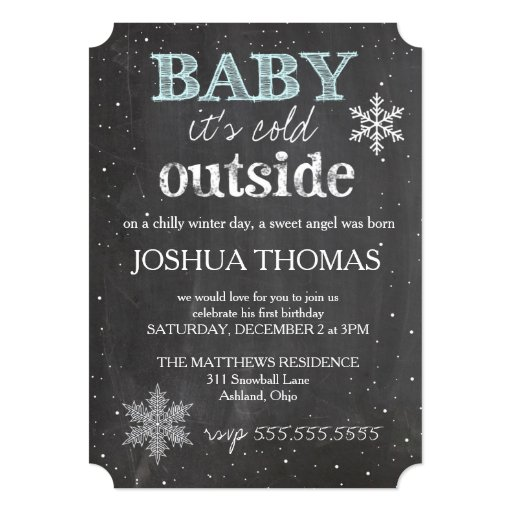 GC Baby It's Cold Outside Winter Birthday Boy Card