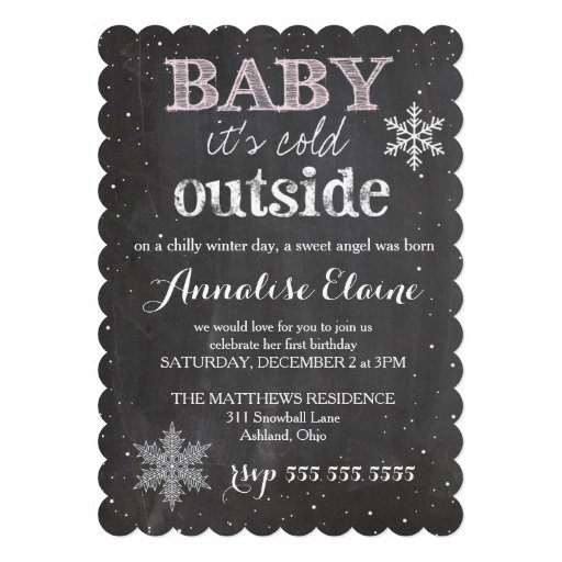 GC Baby It's Cold Outside Winter Birthday Card