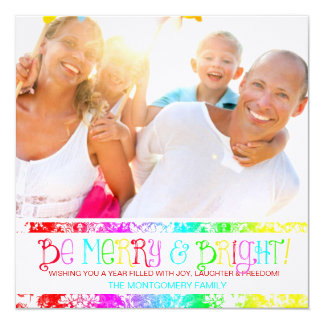 GC Be Merry & Bright Christmas New YEar Card