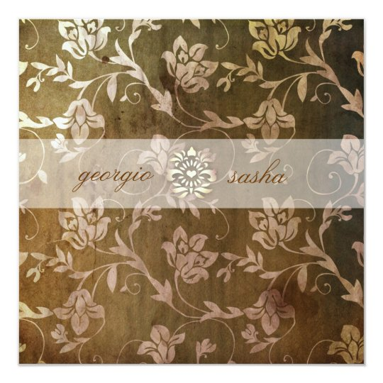 GC | Blissful Brown Floral Vintage Card