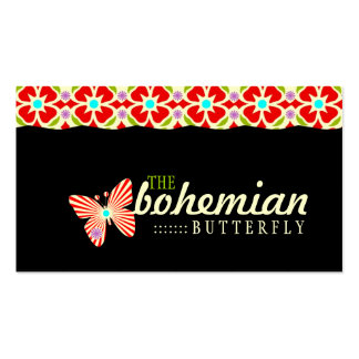 GC Bohemian Butterfly Business Card Template