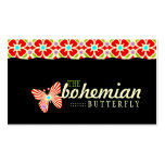 GC Bohemian Butterfly Double-Sided Standard Business Cards (Pack Of 100)