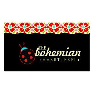 GC   Bohemian Ladybug Business Card Templates