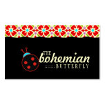 GC | Bohemian Ladybug Double-Sided Standard Business Cards (Pack Of 100)