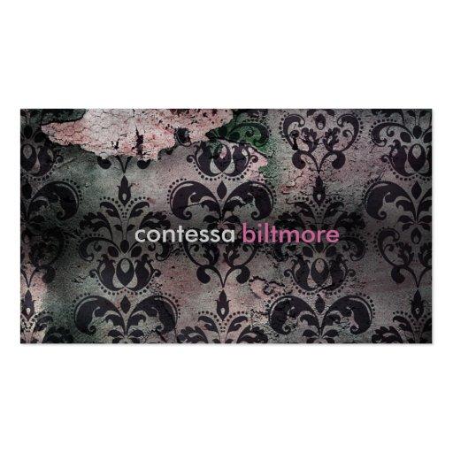 GC Captivating Contessa   Pink   MatteCreamCard Business Card Template